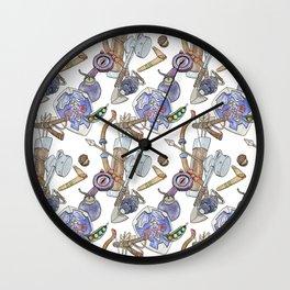 Ocarina Patterns Wall Clock