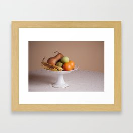 Fruits in a bowl Framed Art Print