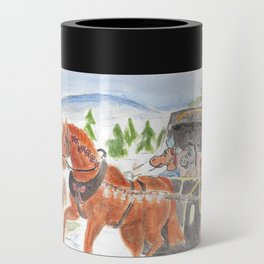 Christmas in Horse Valley Can Cooler