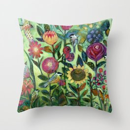 Garden Santuary Throw Pillow