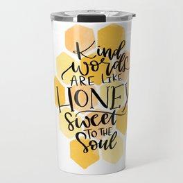 Kind Words Bible Verse Travel Mug