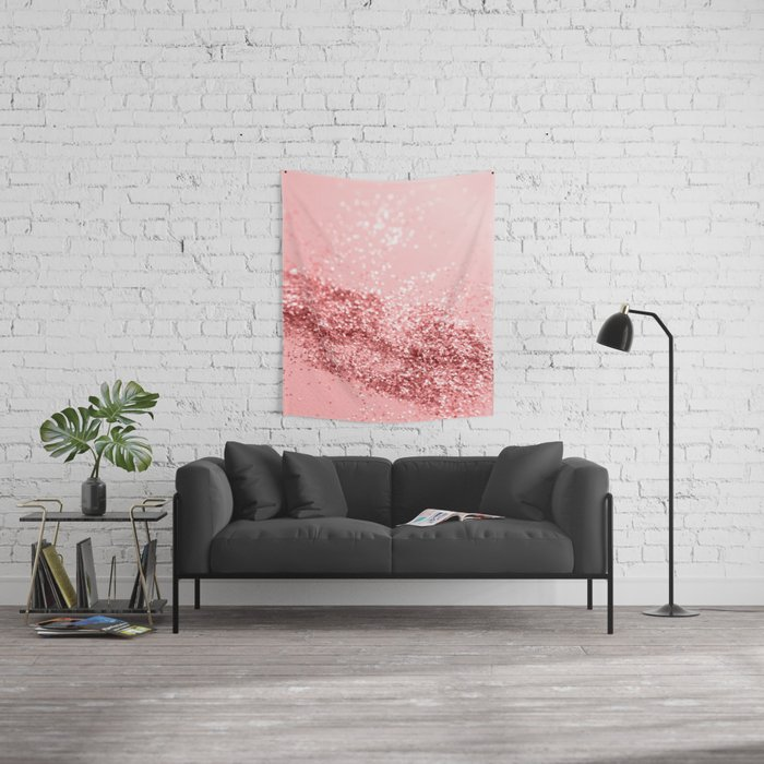 Summer Vibes Glitter #6 #coral #shiny #decor #art #society6 Wall Tapestry