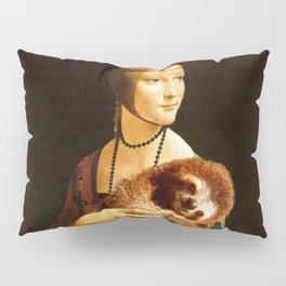 Lady With A Sloth Pillow Sham
