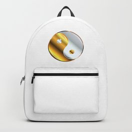 Yin and Yang Gold And Silver Backpack