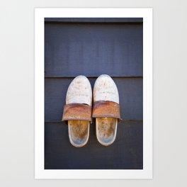 Typical dutch clogs Art Print