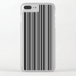 Stripes Collection: Barcode Clear iPhone Case