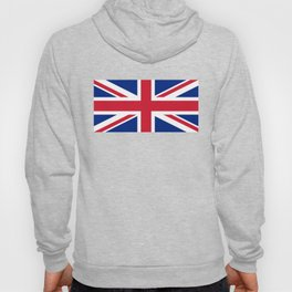 UK FLAG - The Union Jack Authentic color and 1:2 scale  Hoody