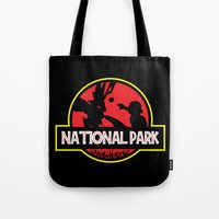 the national Tote Bags featuring National Park by EnoLa