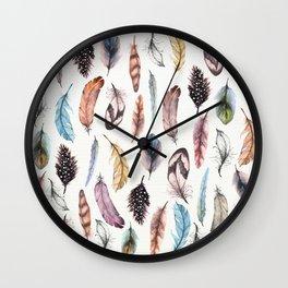 Many Feathers Wall Clock