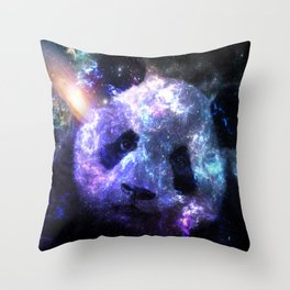 Galaxy Panda Planet Colorful Throw Pillow