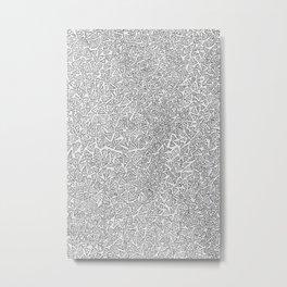2D Pizza Metal Print