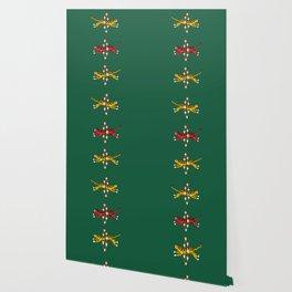 Brave Tiger - Green Wallpaper