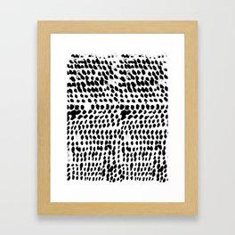 Flowing dots 02 Framed Art Print