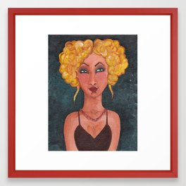 Blond with Updo Framed Art Print