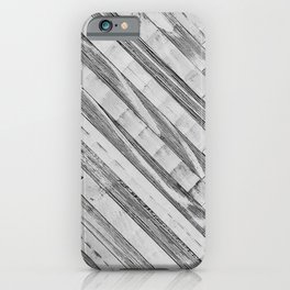 Vintage Diagonal Design //Black and White Wood Accent Decoration Hand Scraped Design iPhone Case