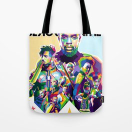 Blak Panther Series In Pop Art Tote Bag