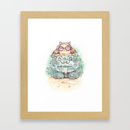Ancient cats Framed Art Print