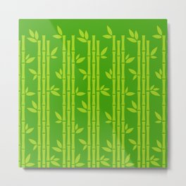 Evergreen Chinese Bamboos Metal Print