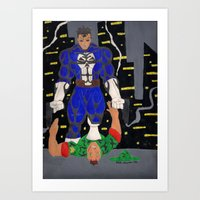 punisher Art Prints featuring punisher by drjoe35