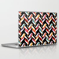 herringbone Laptop & iPad Skins featuring herringbone penguin by Sharon Turner
