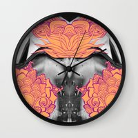 geode Wall Clocks featuring Geode 6 by michiko_design