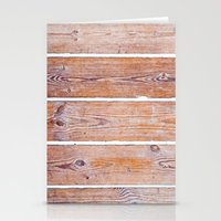 wooden Stationery Cards featuring Wooden Boards by Patterns and Textures