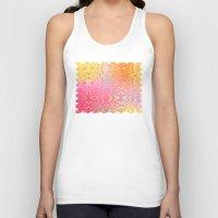 orange pattern Tank Tops featuring Happy Hippie Pattern (orange) by NatalieCatLee