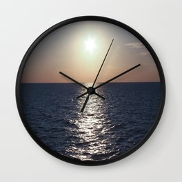 Sunset, Santorini Wall Clock