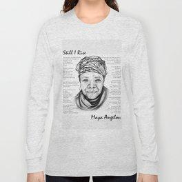 Still I Rise Print Maya Angelou Poem Long Sleeve T-shirt