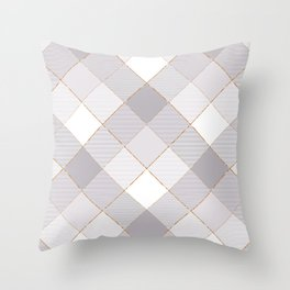 Geometrical Square Abstraction 7 Throw Pillow