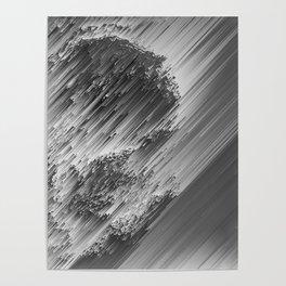 White pixel snow Poster