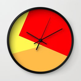 Orange Ombre Shapes Wall Clock