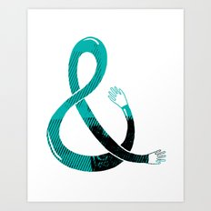 Handpersand Green Art Print