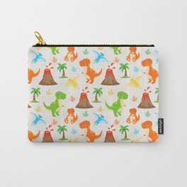 Cute Dinosaurs Nursery Illustration – Jurassic print with T-Rex and Pterodactyl Carry-All Pouch