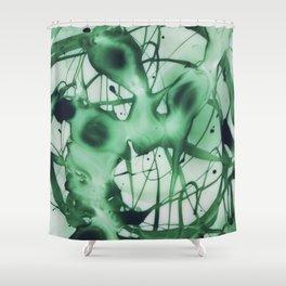 Emerald Smoke  Shower Curtain