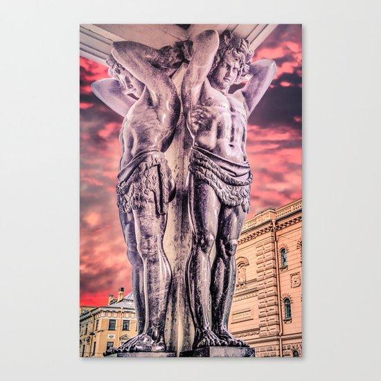 Atlantes of the New Hermitage in Saint-Petersburg Canvas Print