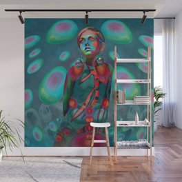"""Psychedelic Pop Fantasy"" (Twiggy) Wall Mural"