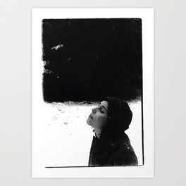 girl in the snow Art Print