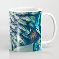 swan Mugs featuring Swan by Bea González