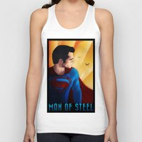 man of steel Tank Tops featuring Man of Steel by sevillaseas