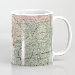 Vintage Midwestern United States Railroad Map Coffee Mug