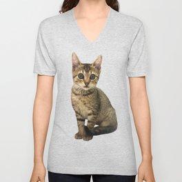 Brown Kitten Unisex V-Neck