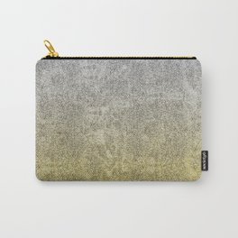 Silver and Gold Glitter Gradient Carry-All Pouch