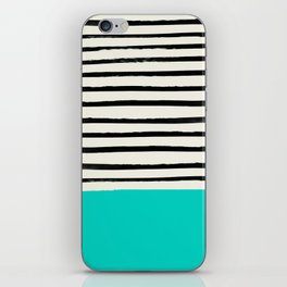 Aqua & Stripes iPhone Skin