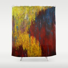 Dripping Color Shower Curtain