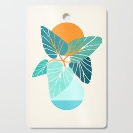 Tropical Symmetry / Retro Aqua Orange Palette Cutting Board