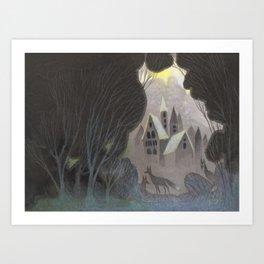 Misty Towers Art Print