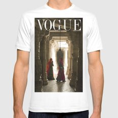 VOGUE INDIA Mens Fitted Tee White MEDIUM