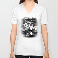 diver V-neck T-shirts featuring Diver by ghoste