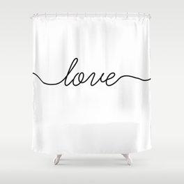 Peace love joy (2 of 3) Shower Curtain